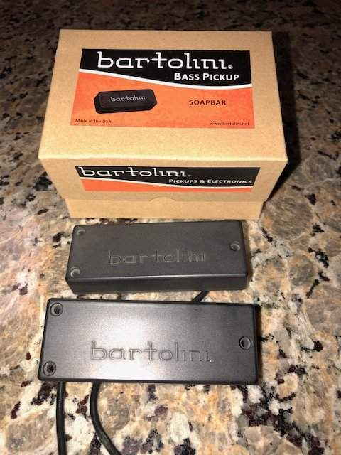 Bartolini P2 soap bar shaped 4 string Bass routing pickup template