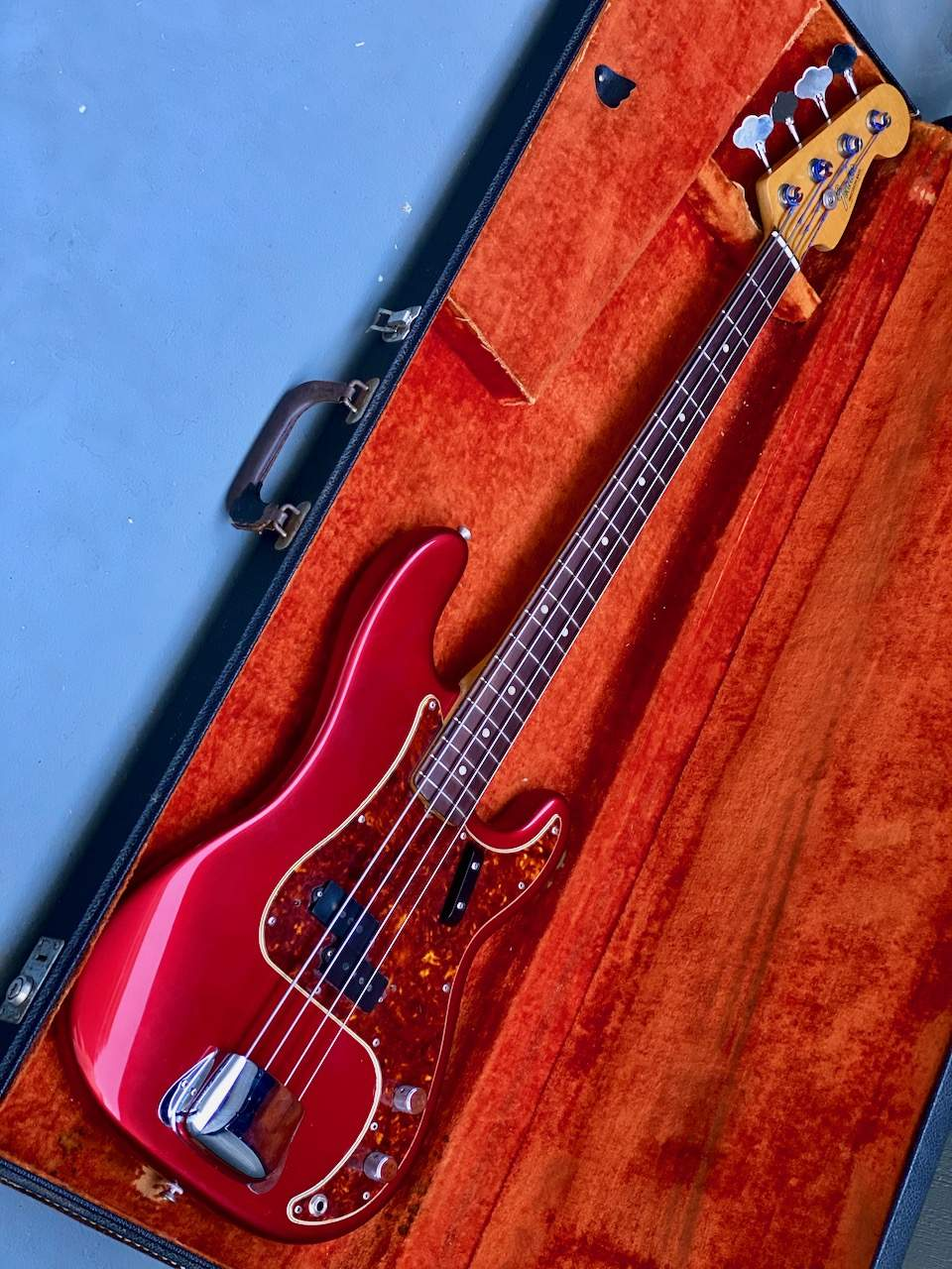 1965 Fender Precision Candy Apple Red - 12.jpeg