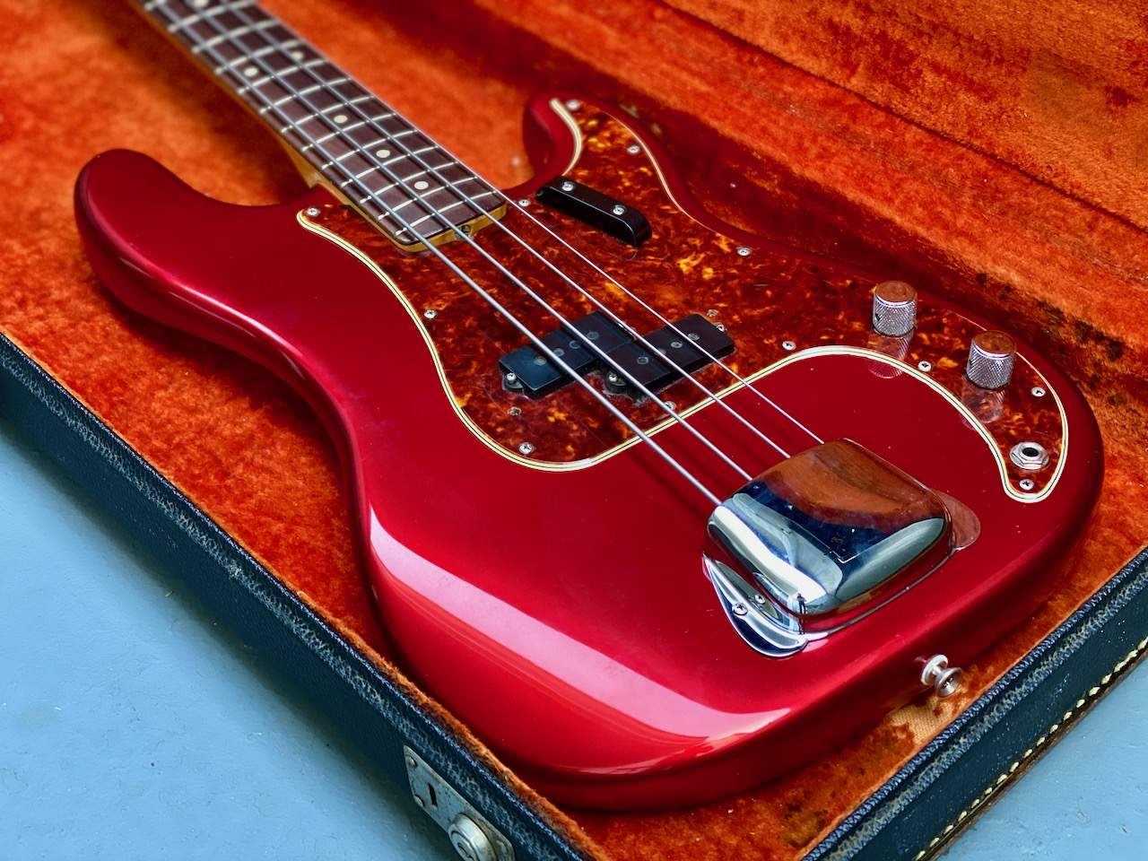 1965 Fender Precision Candy Apple Red - 16.jpeg