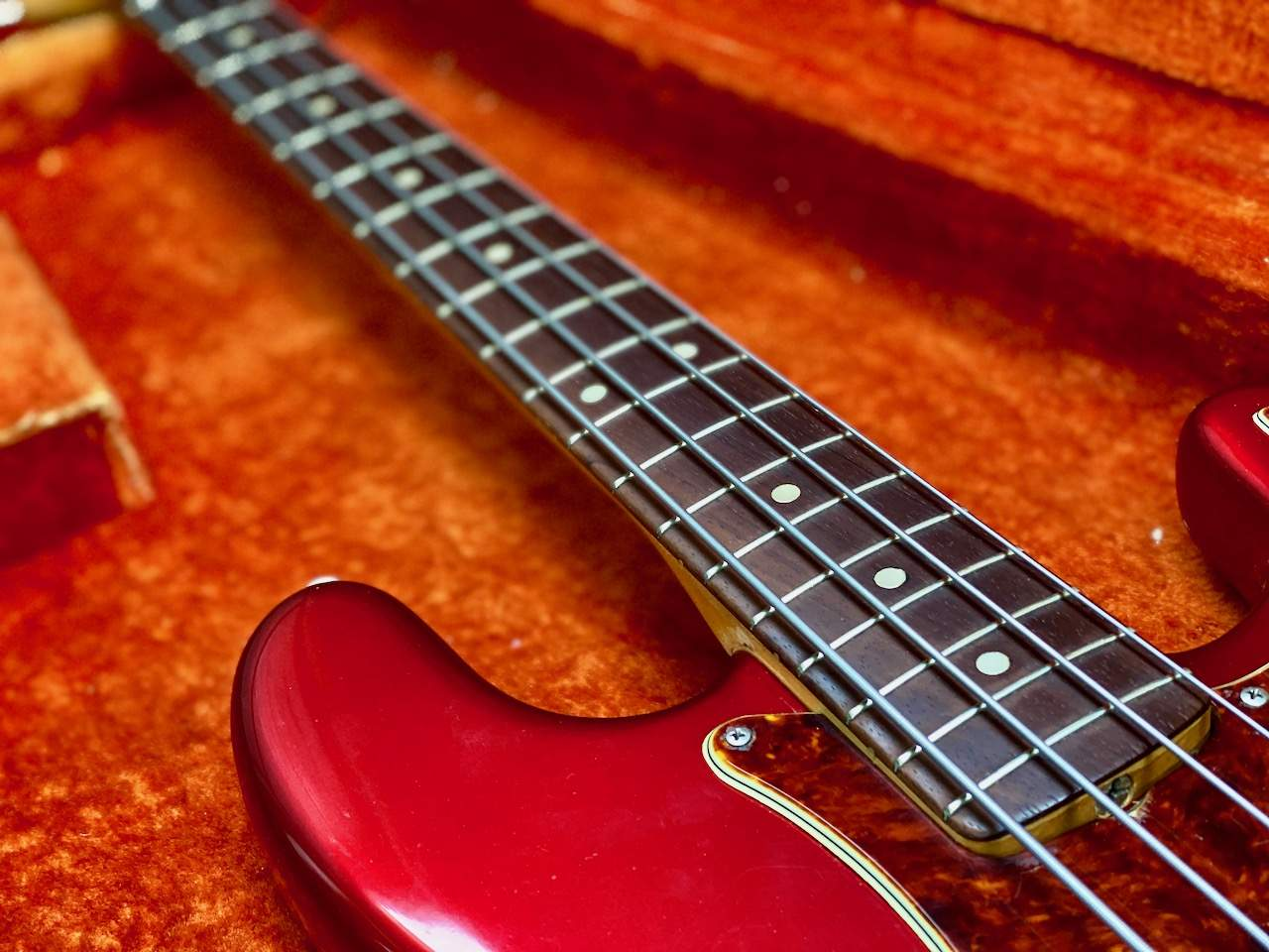 1965 Fender Precision Candy Apple Red - 17.jpeg