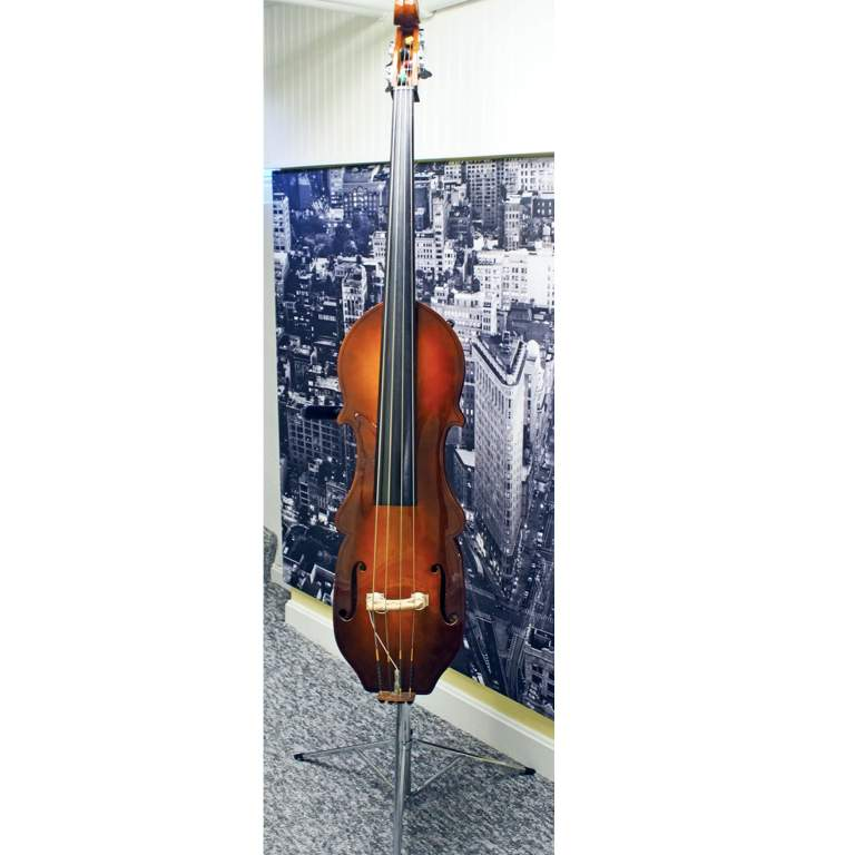 sold eminence semi acoustic electric upright double bass pickup stand gig bag local. Black Bedroom Furniture Sets. Home Design Ideas