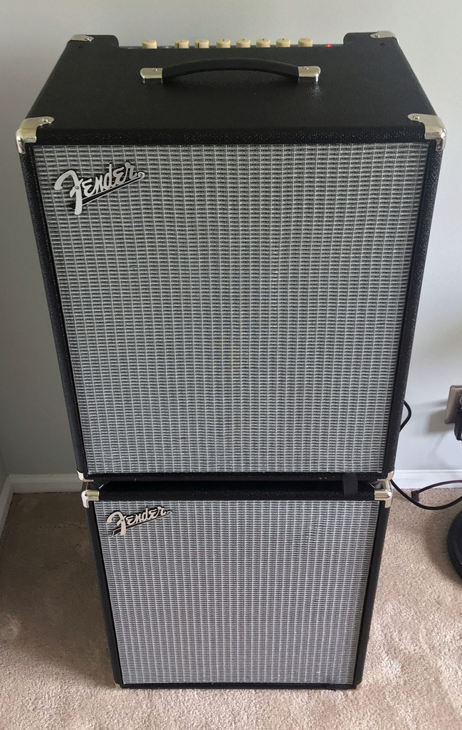 Used Cabinets For Sale >> SOLD - Fender Bass Stack - Fender Rumble 500 Combo Amp & Rumble 210 Cabinet | TalkBass.com