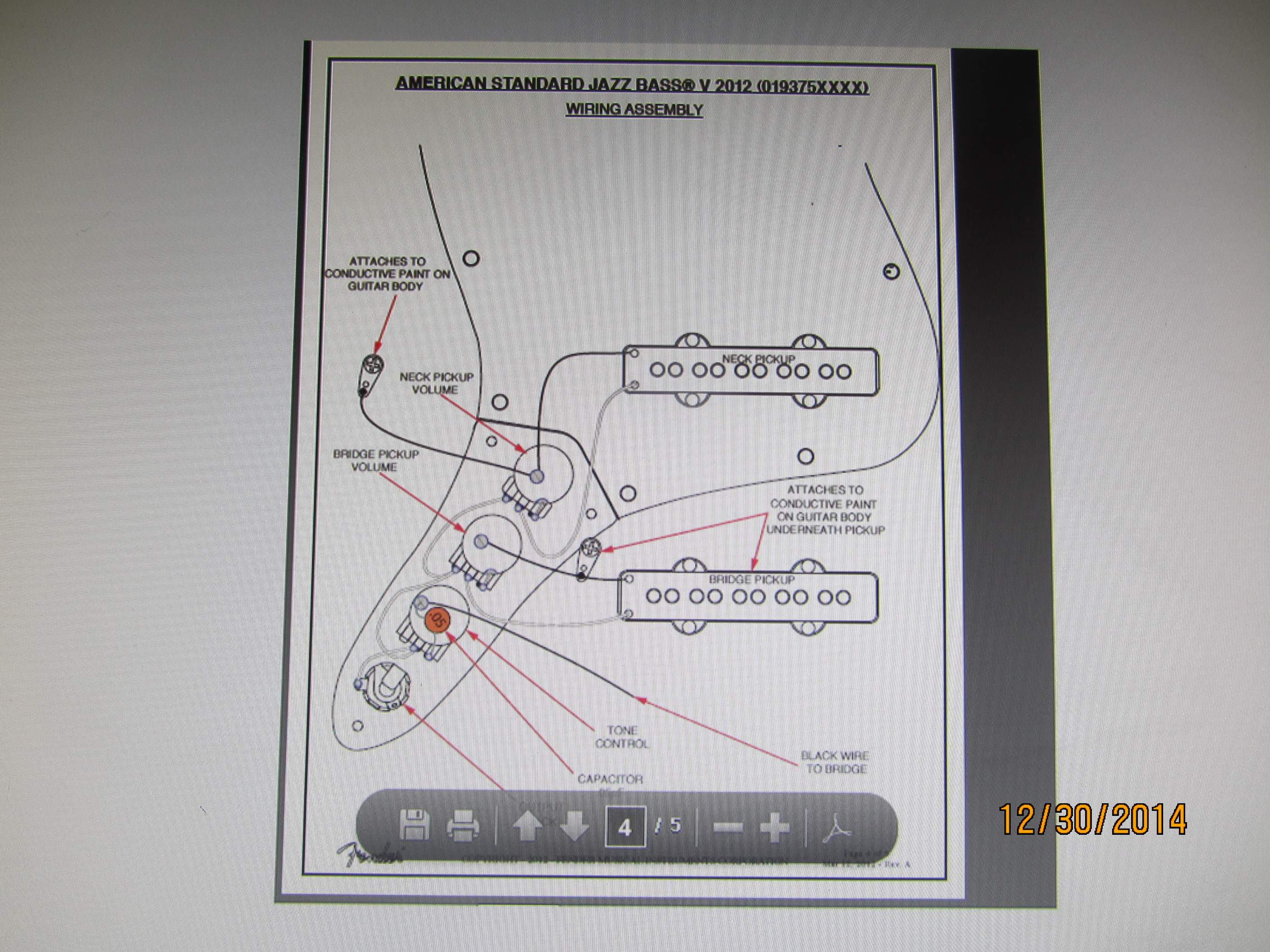 Dorable Fender Jazz Bass Wiring Diagram Inspiration - The Wire ...