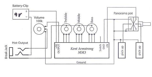 instraling a kent armstrong preamp talkbass com kent armstrong pickups wiring diagram at bayanpartner.co