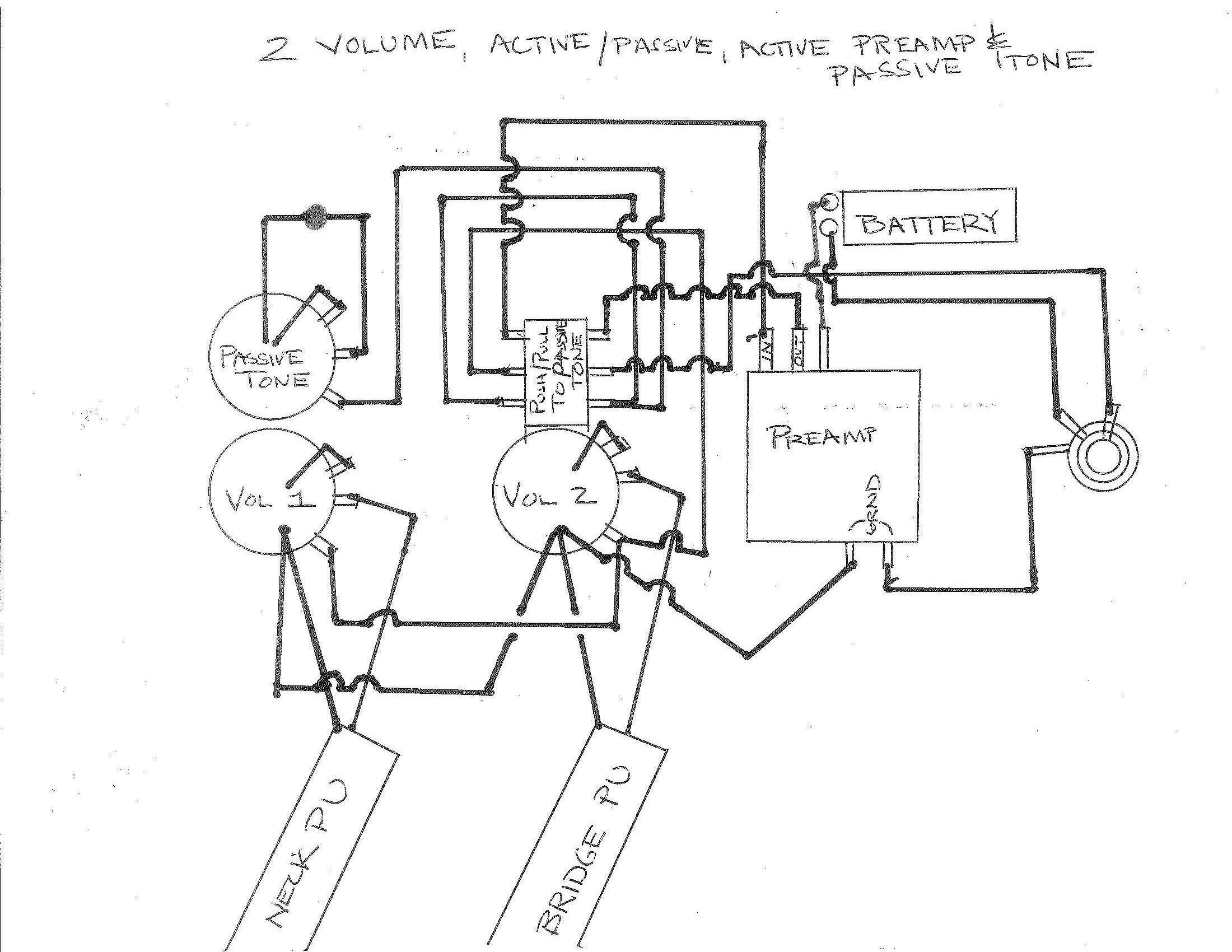 Wiring Gurusneed More Help Or Again Pre Amp Diagrams 2 Vol A P Tone Active Preamp