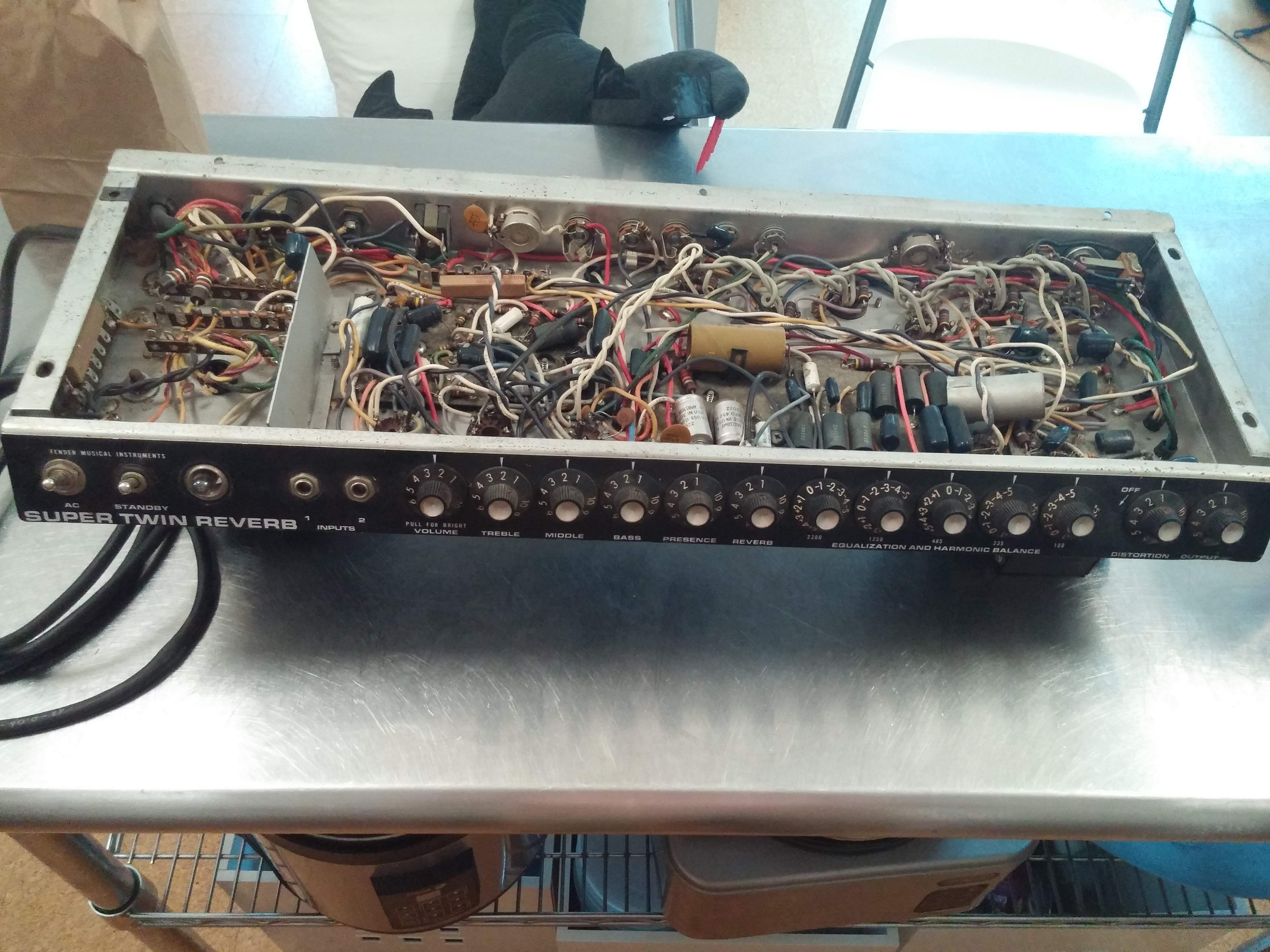For Sale - Fender Super Twin Reverb - Fully-Loaded Amp Chassis ...