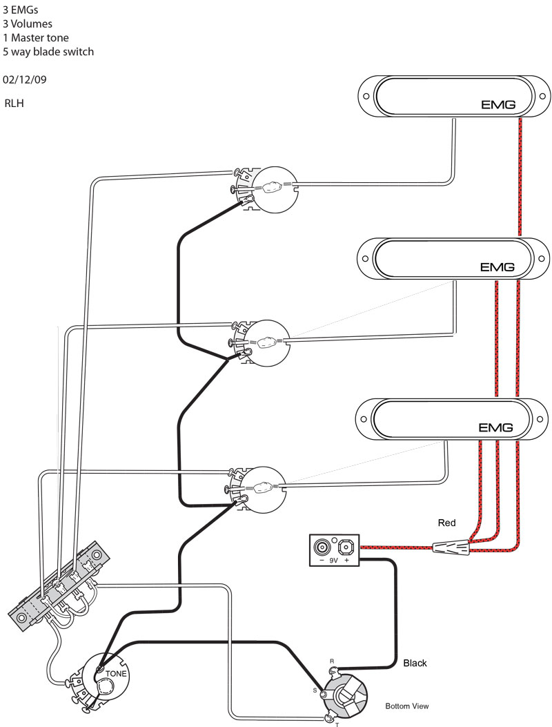 emg wiring diagram viper 330 3 pickups in a bass - wiring? | talkbass.com