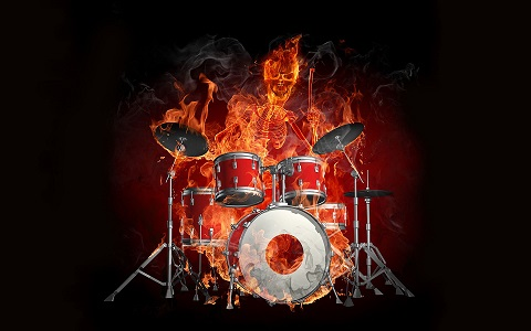 3d-skeleton-with-drums-flame-effect-wallpaper.