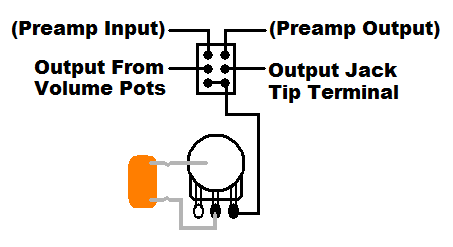 Bypassing This Active Magnetic/Piezo Pickup Preamp