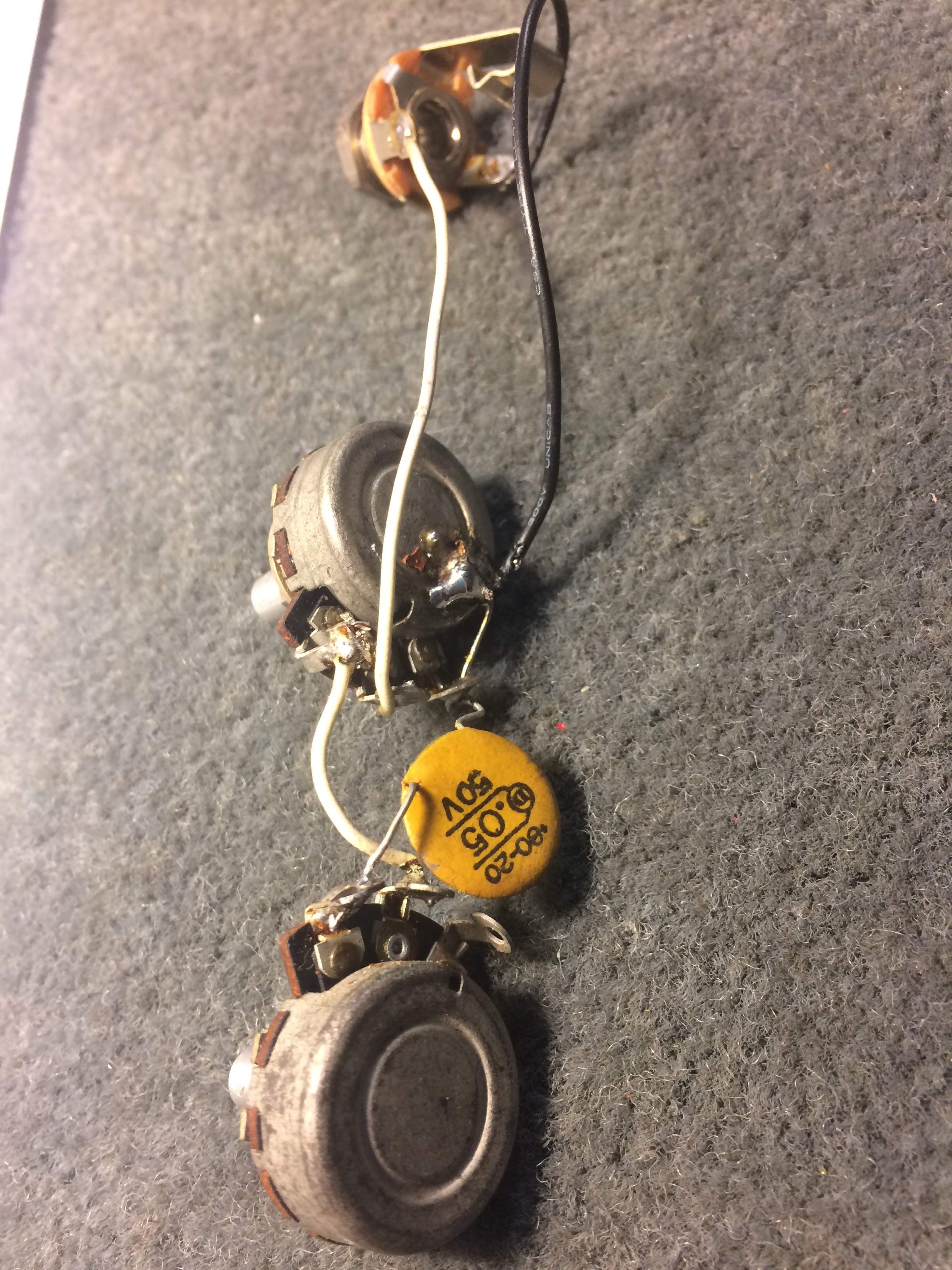 For Sale Vintage Early 1971 Fender P Bass Original Stackpole Wiring 71 Pbass Harness2