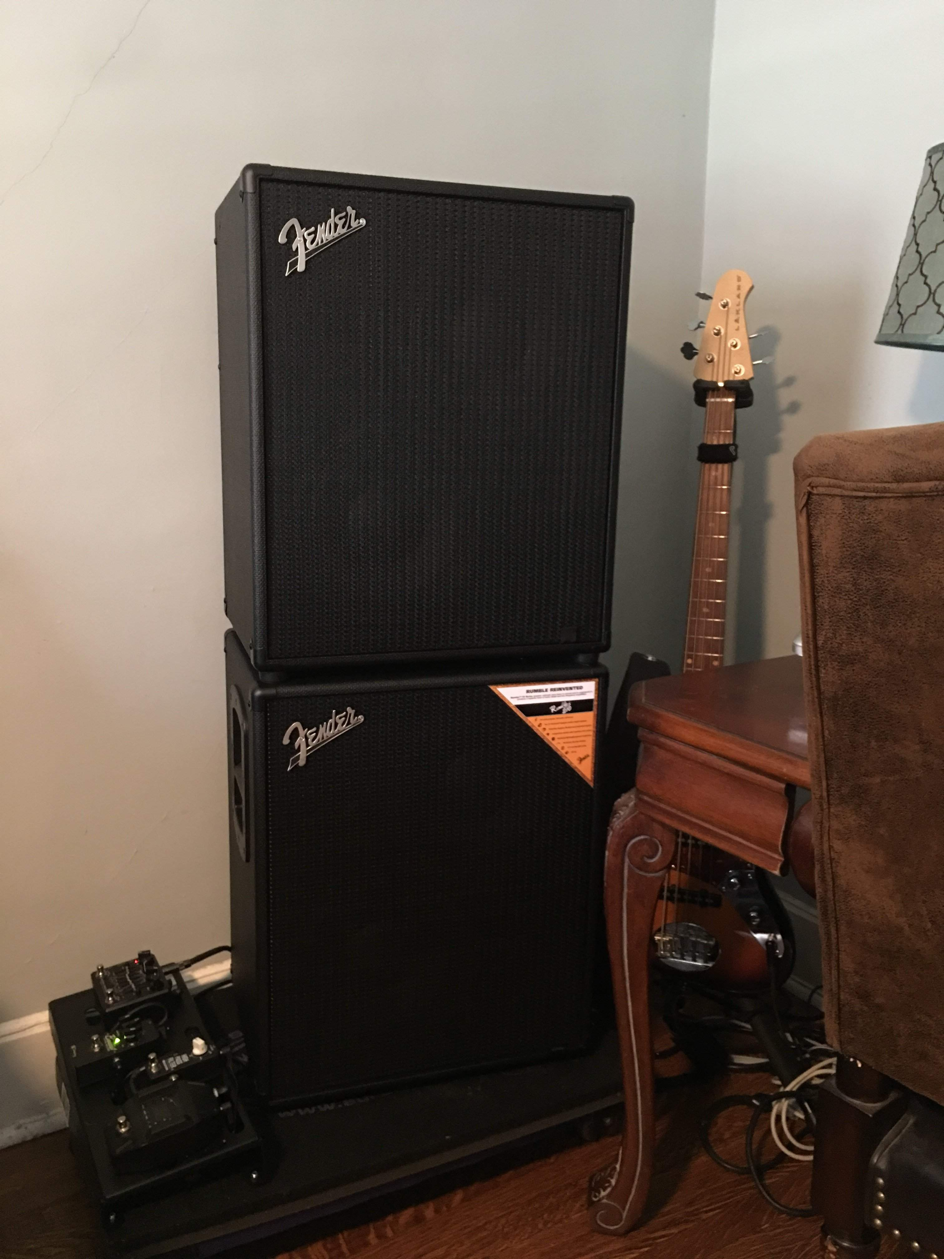 Fender rumble 800 stage which additional cab ? | TalkBass com