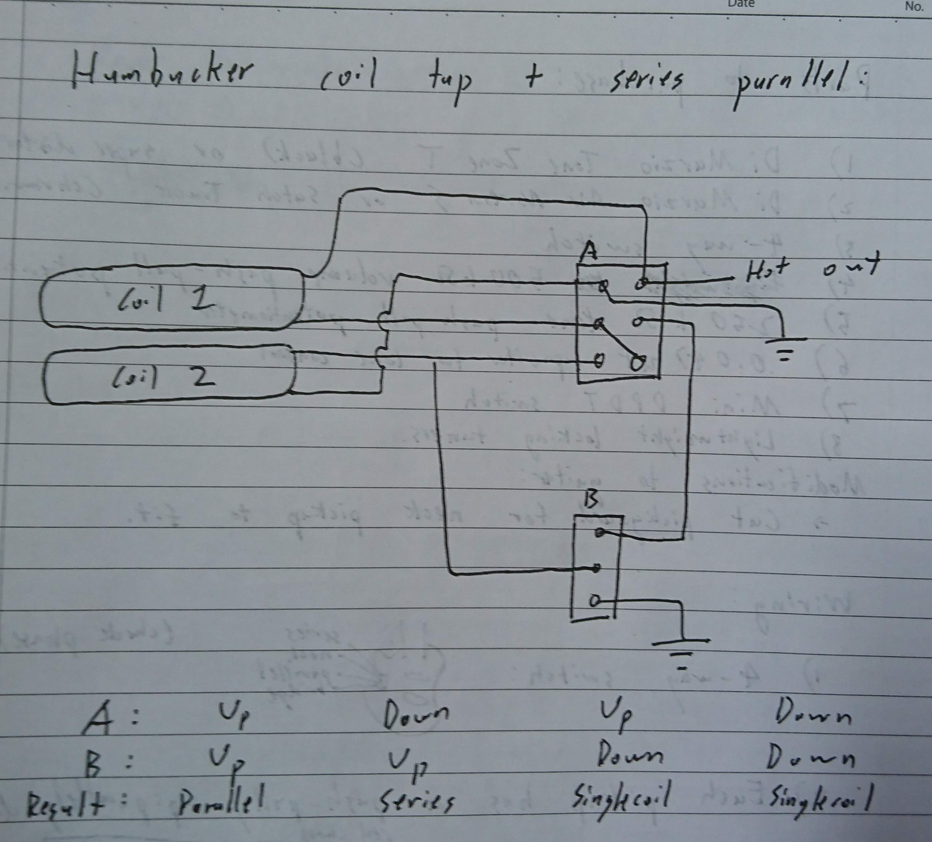 Wiring idea for series/parallel with coil split | TalkBass com
