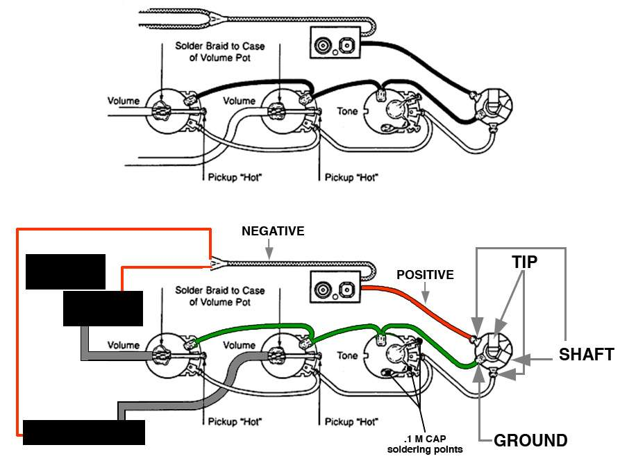 emg wiring diagram lp
