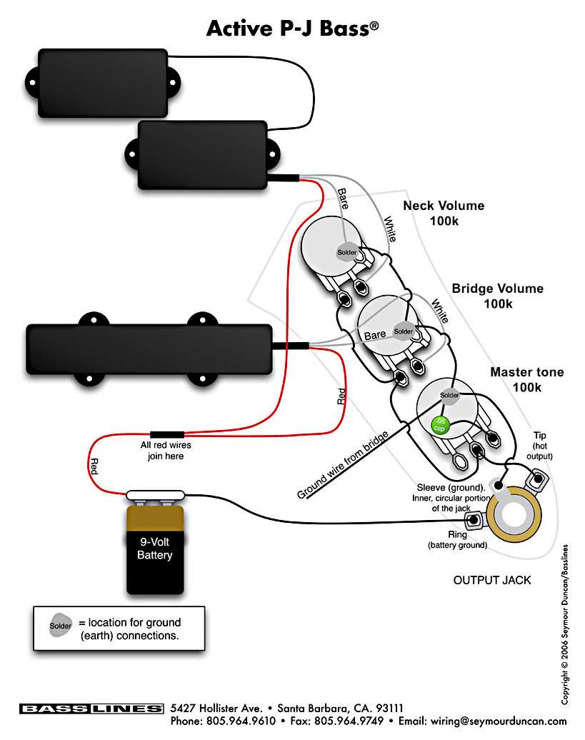 emg active pj b wiring diagram active free printable wiring diagrams