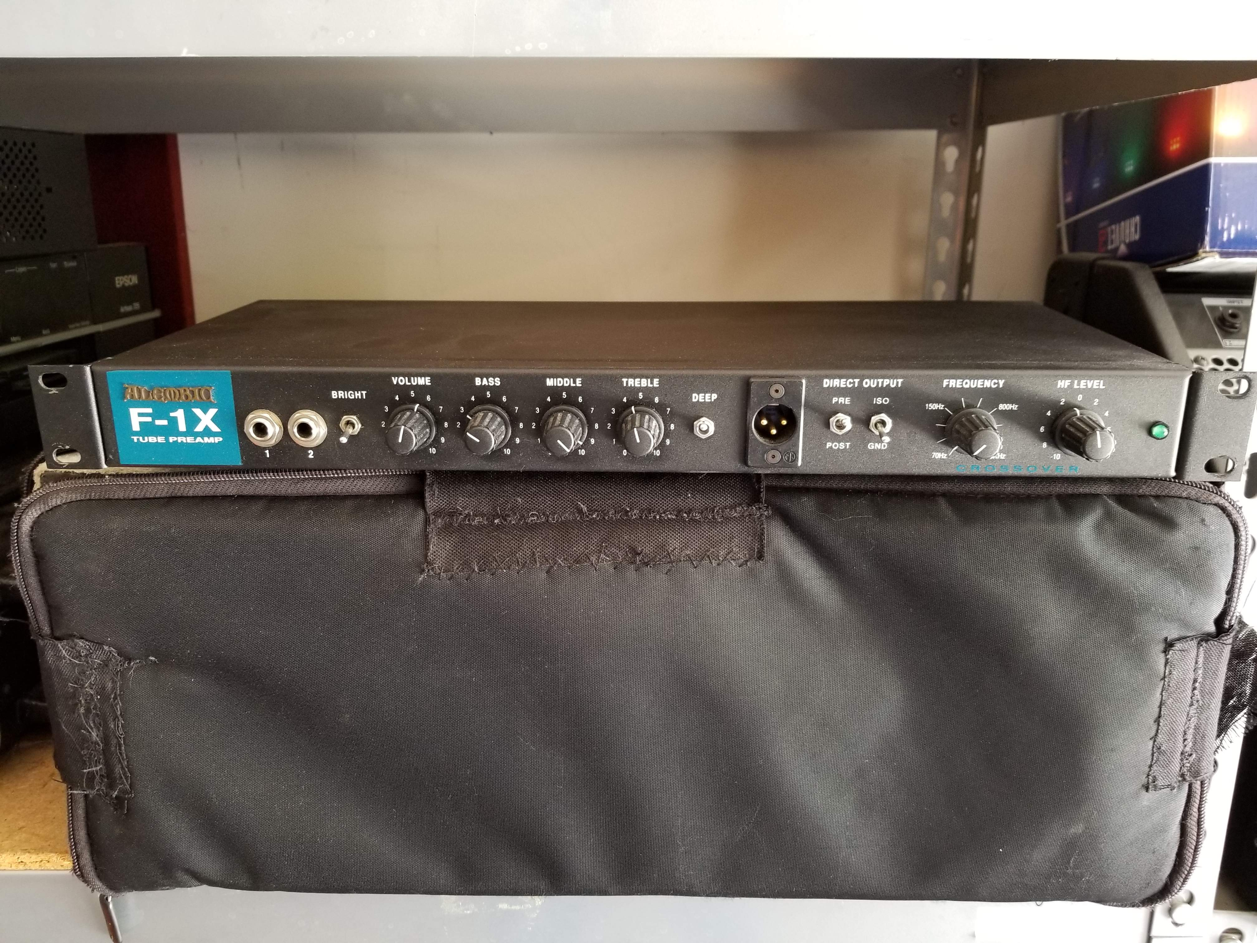 Sold Alembic F 1x Tube Preamp In Near Perfect Shape Talkbasscom