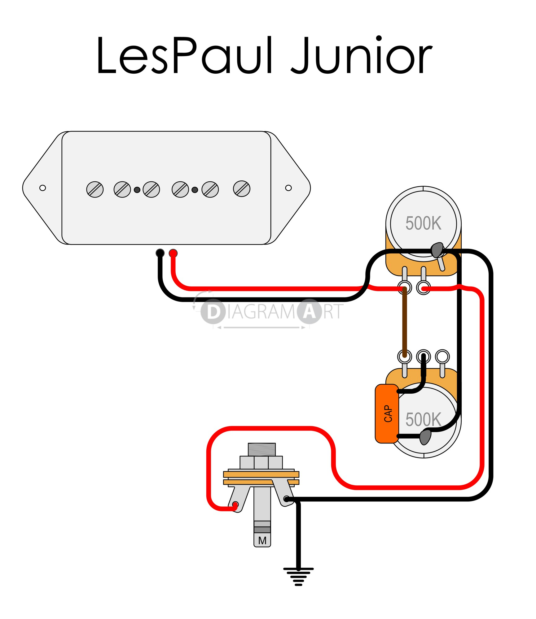 lp junior wiring question. Black Bedroom Furniture Sets. Home Design Ideas