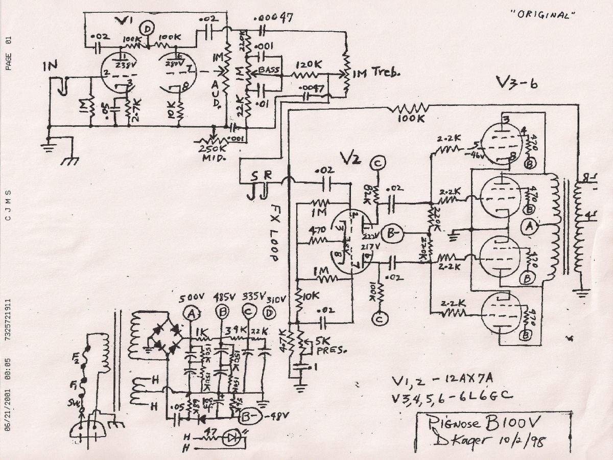 Pignose Wiring Diagram