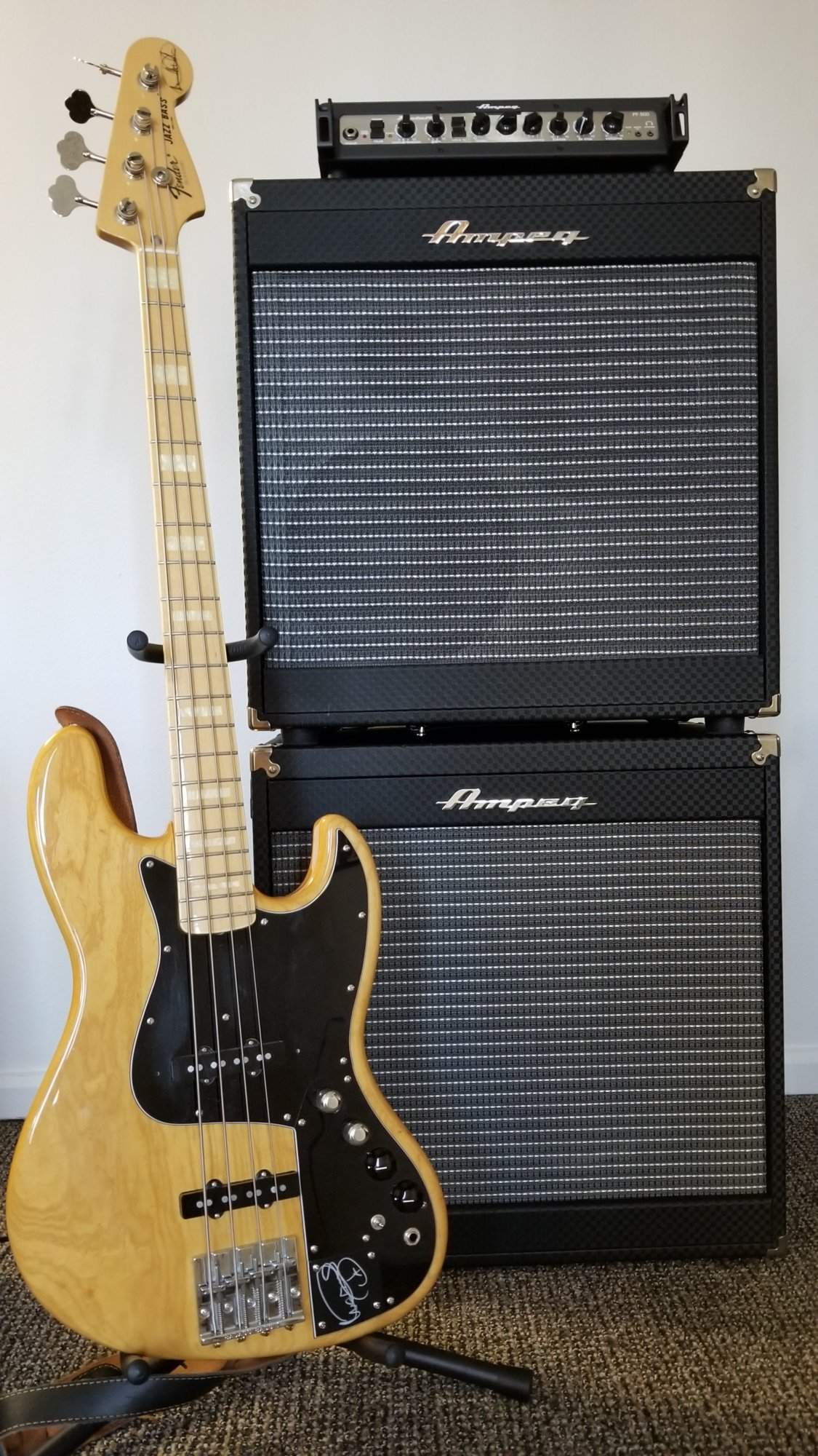 ampeg pf500 with 2 pf115ce cabs. Black Bedroom Furniture Sets. Home Design Ideas
