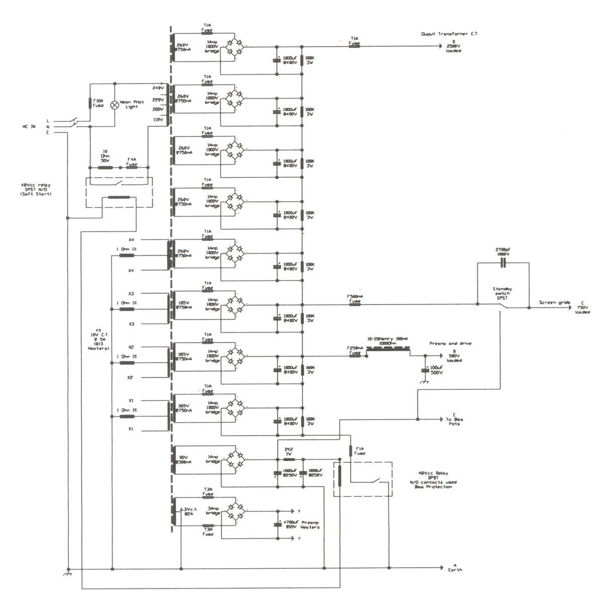 1000w All Tube Head Page 7 Austin Champ Wiring Diagram Constwire2d