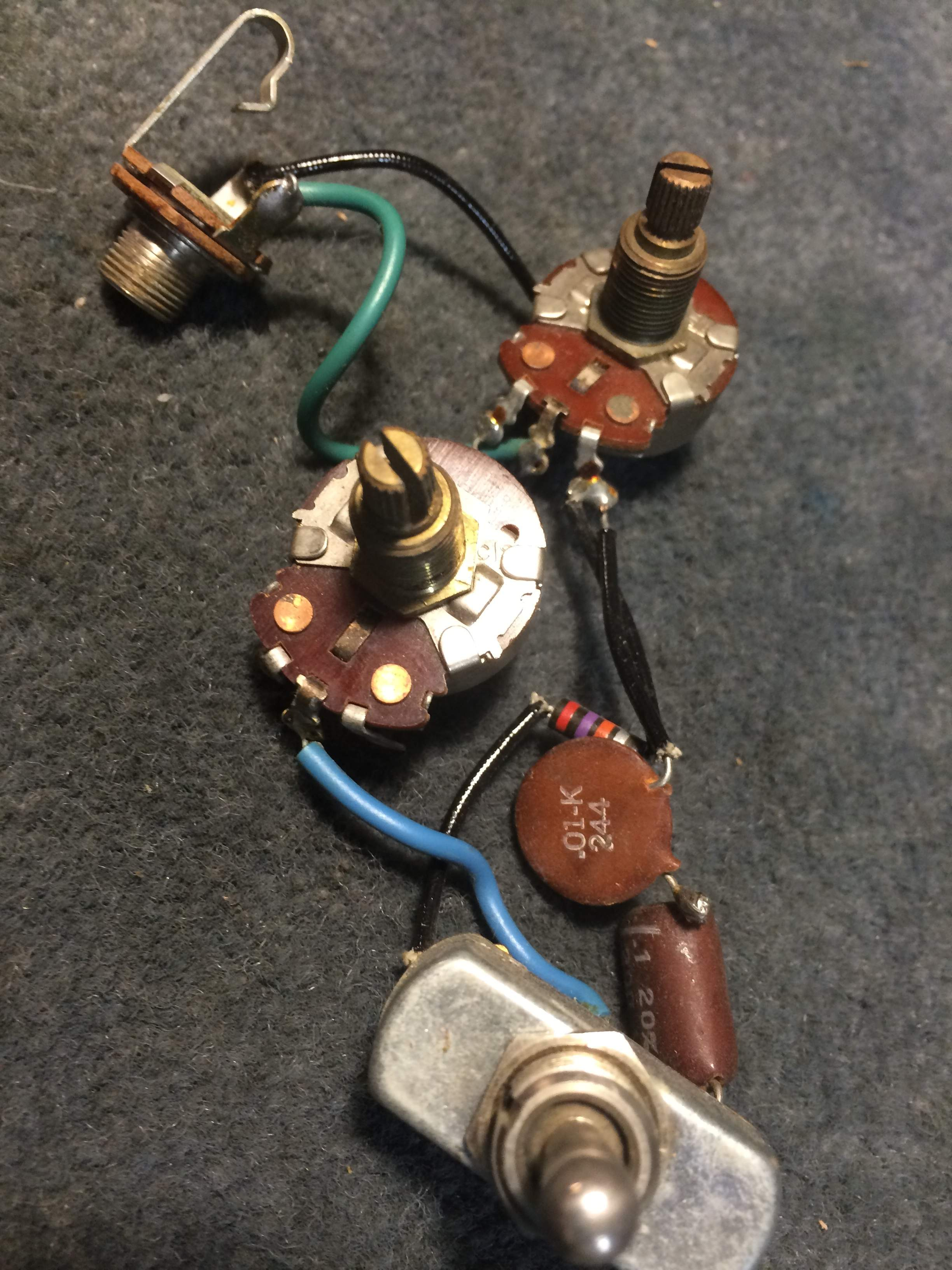 Sold Original Vintage 1960s Danelectro Bass Wiring Harness Dano
