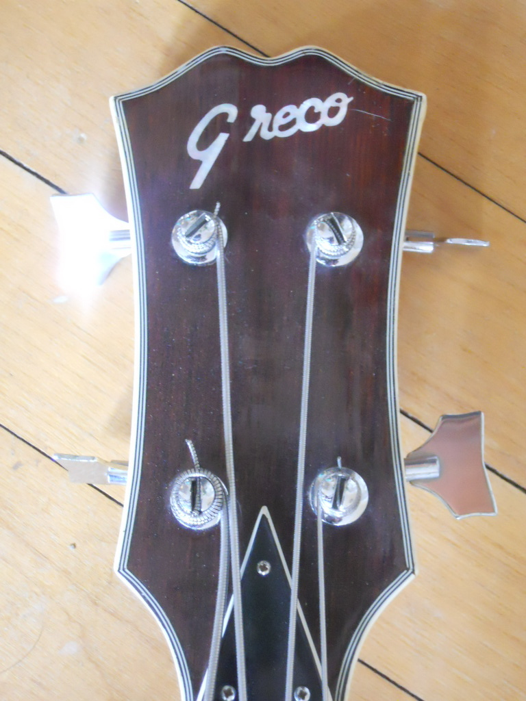 sold fs greco hollowbody bass 250 obro. Black Bedroom Furniture Sets. Home Design Ideas