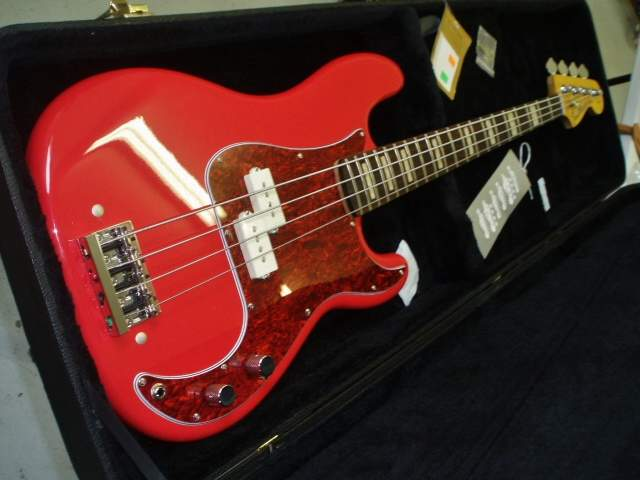 Sold Fiesta Red Precision Bass Usa Pickups 1 5 Quot Neck