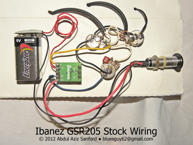 Ibanez Gsr205 Wire Diagram - Wiring Data schematic