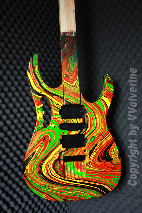 How to swirl paint guitar