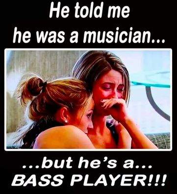 he told me musician bass player crying.