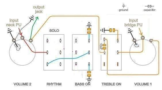 how to rewire a hofner violin bass control panel for more tones Double Neck Guitar Wiring Diagram