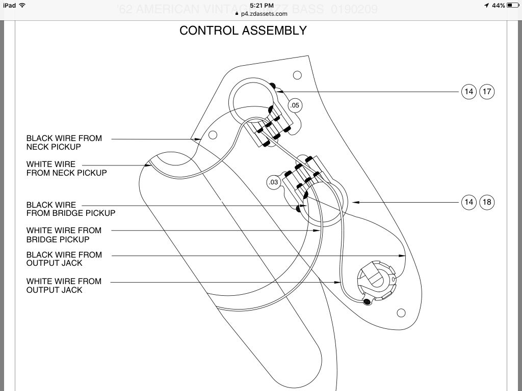 Looking for help using concentric pots in a PJ build (wiring diagram) |  TalkBass.comTalkBass.com