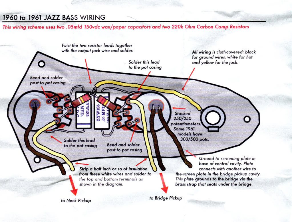 Is this '60/'61 Jazz Stack-Knob diagram correct? | TalkB.com Jazz B Wiring Diagram For K on
