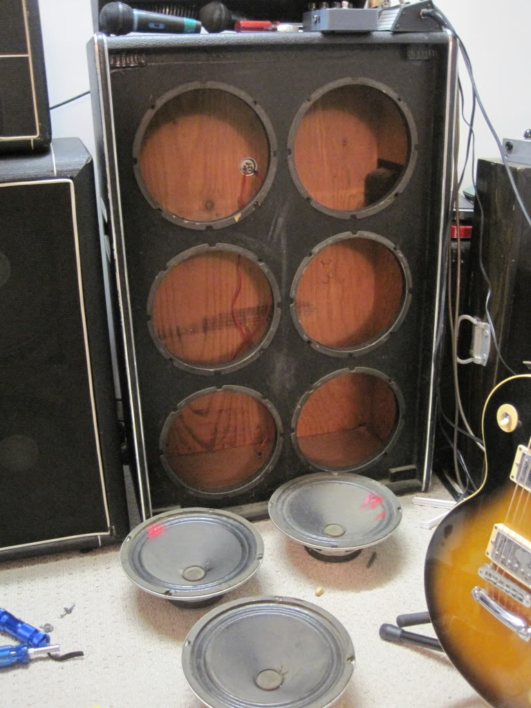 Because the value of a fully functional YC 610 is so low  aprox   225 ish   I had to keep the replacement speakers at a reasonable cost in case the  cabinet  Restoration of an old Traynor YC 610  With pics    TalkBass com. Restoring Old Speaker Cabinets. Home Design Ideas