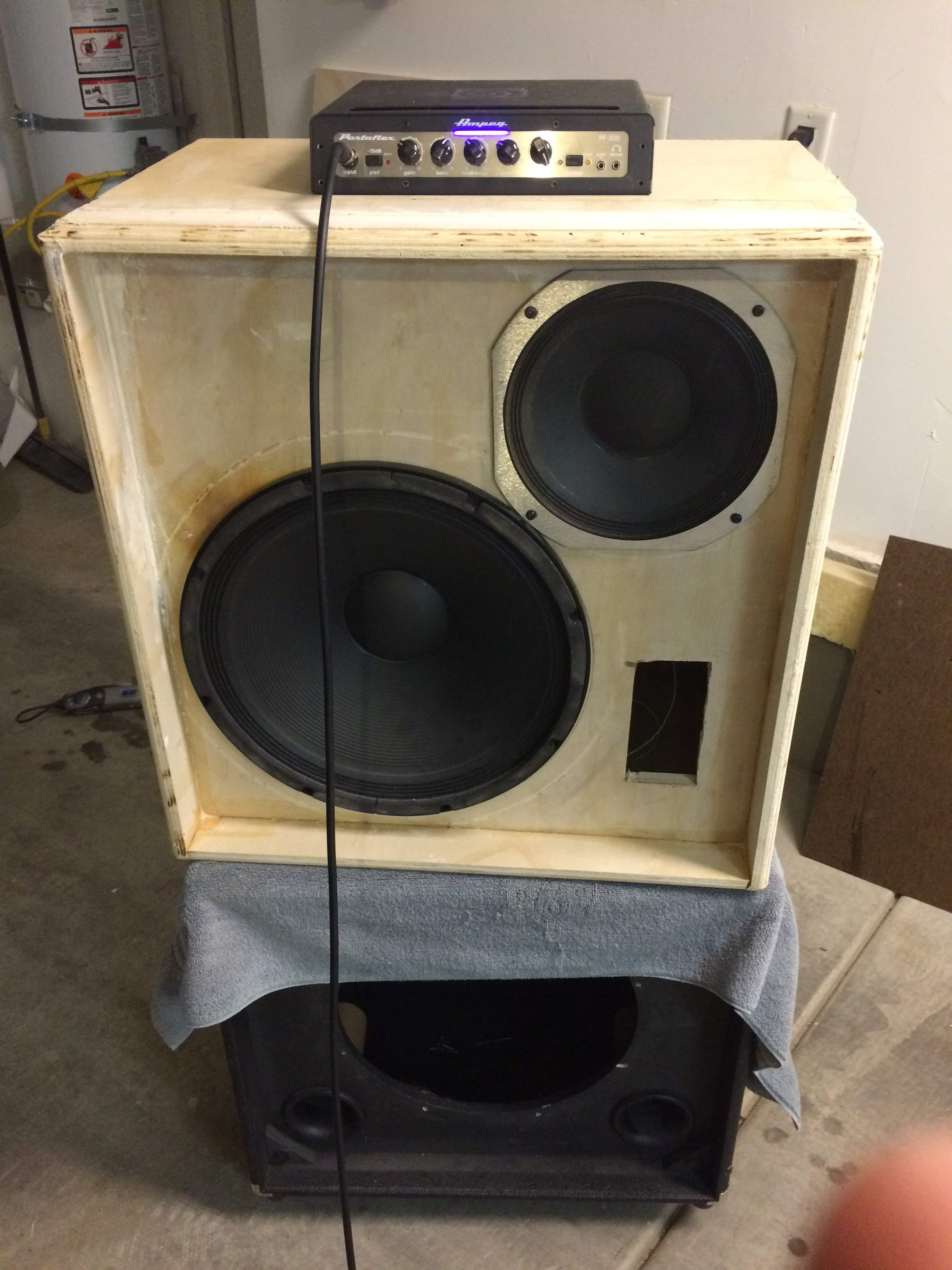 Another Bass Cabinet Build Ampeg 1510e Style Sorta Flip Top Speaker Box Designs