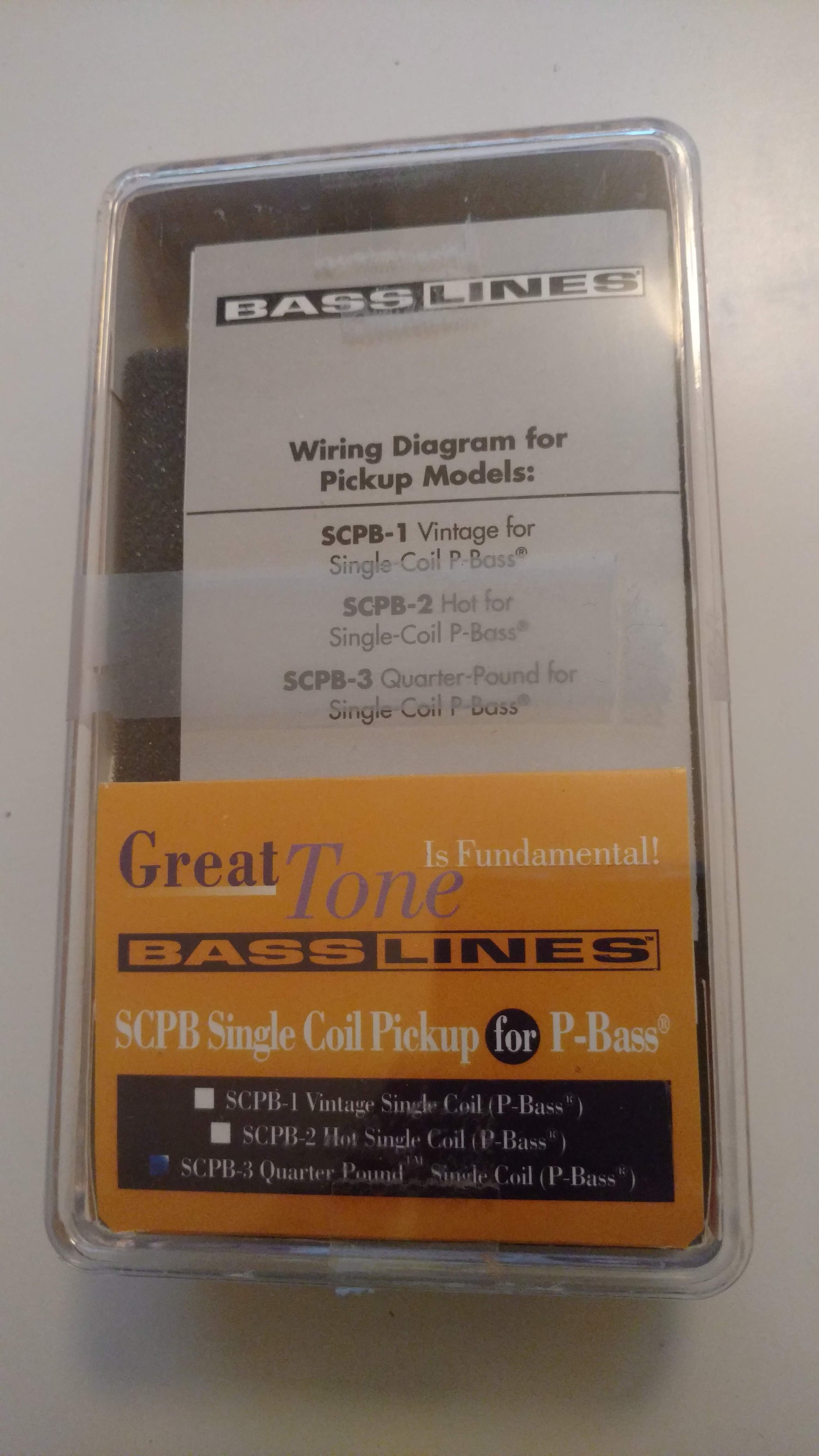 Sold Emg Bartolini Bass Lines Pickups And Preamps Single Coil Wiring Diagram Img 20160108 151023669