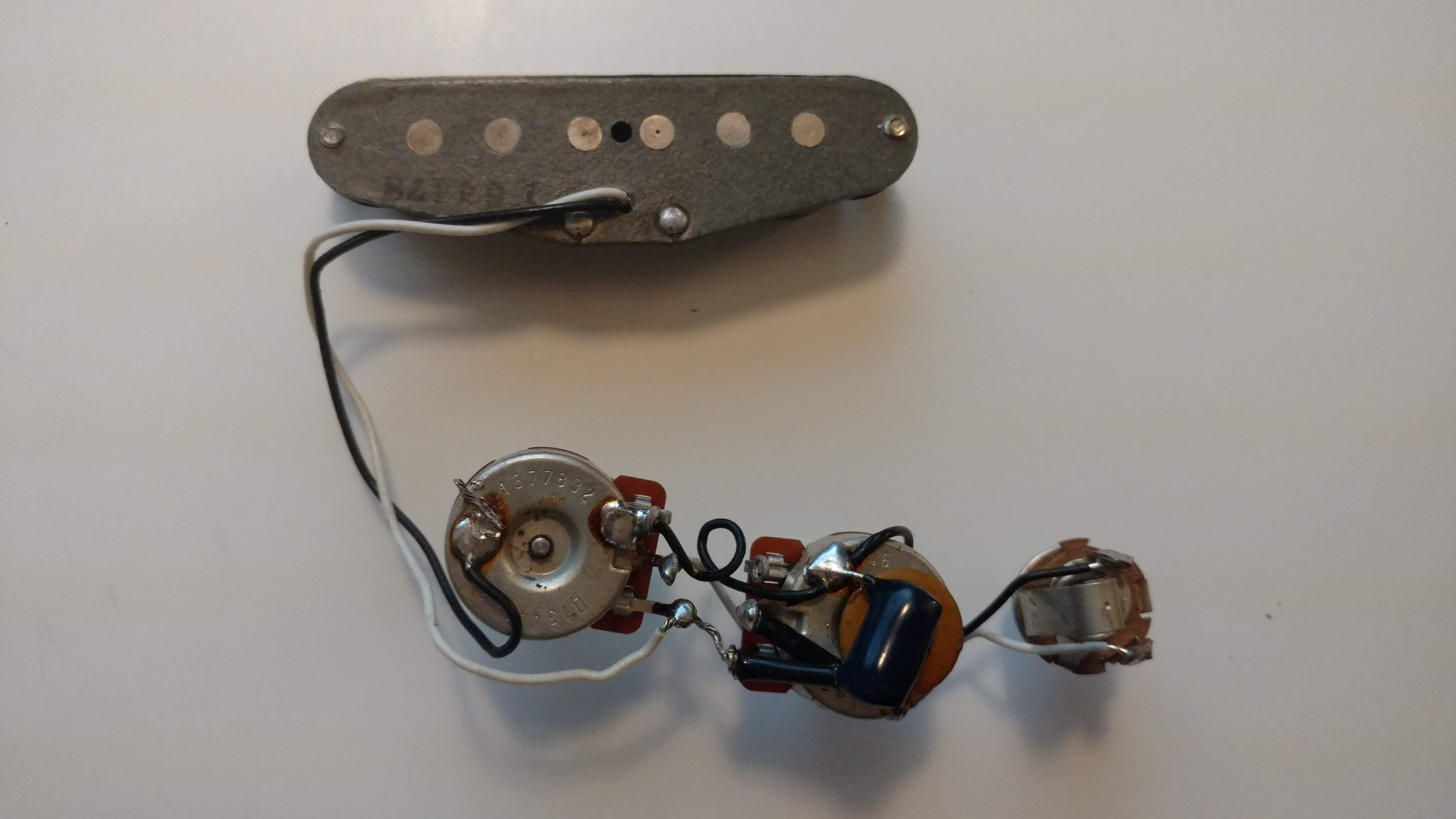 Sold 1978 Fender Musicmaster Pickup And Wiring Harness American Stratocaster Img 20160814 032134318