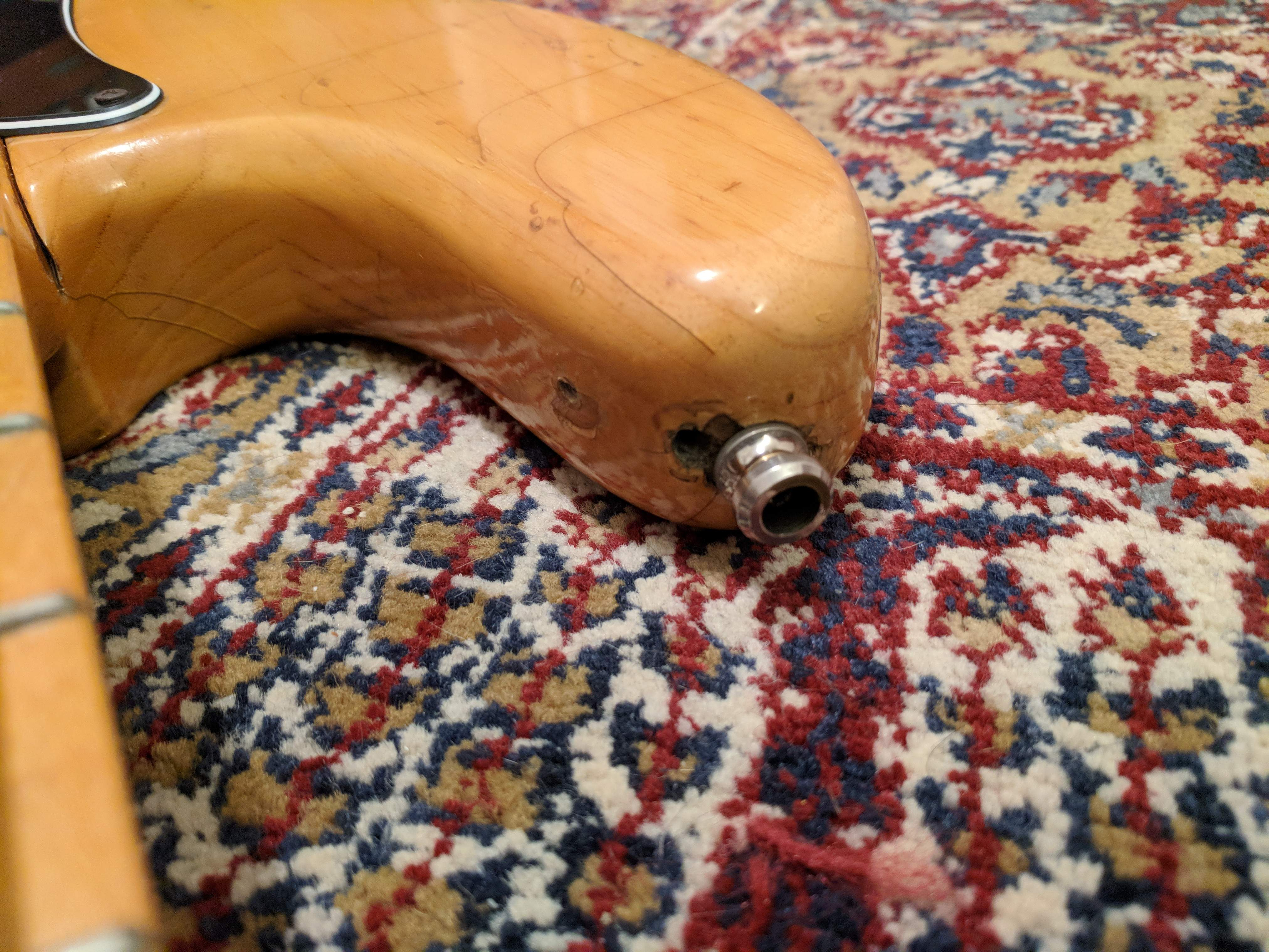 SOLD - 70s P bass body, Fender USA neck, EMG GZR pickup | TalkBass com