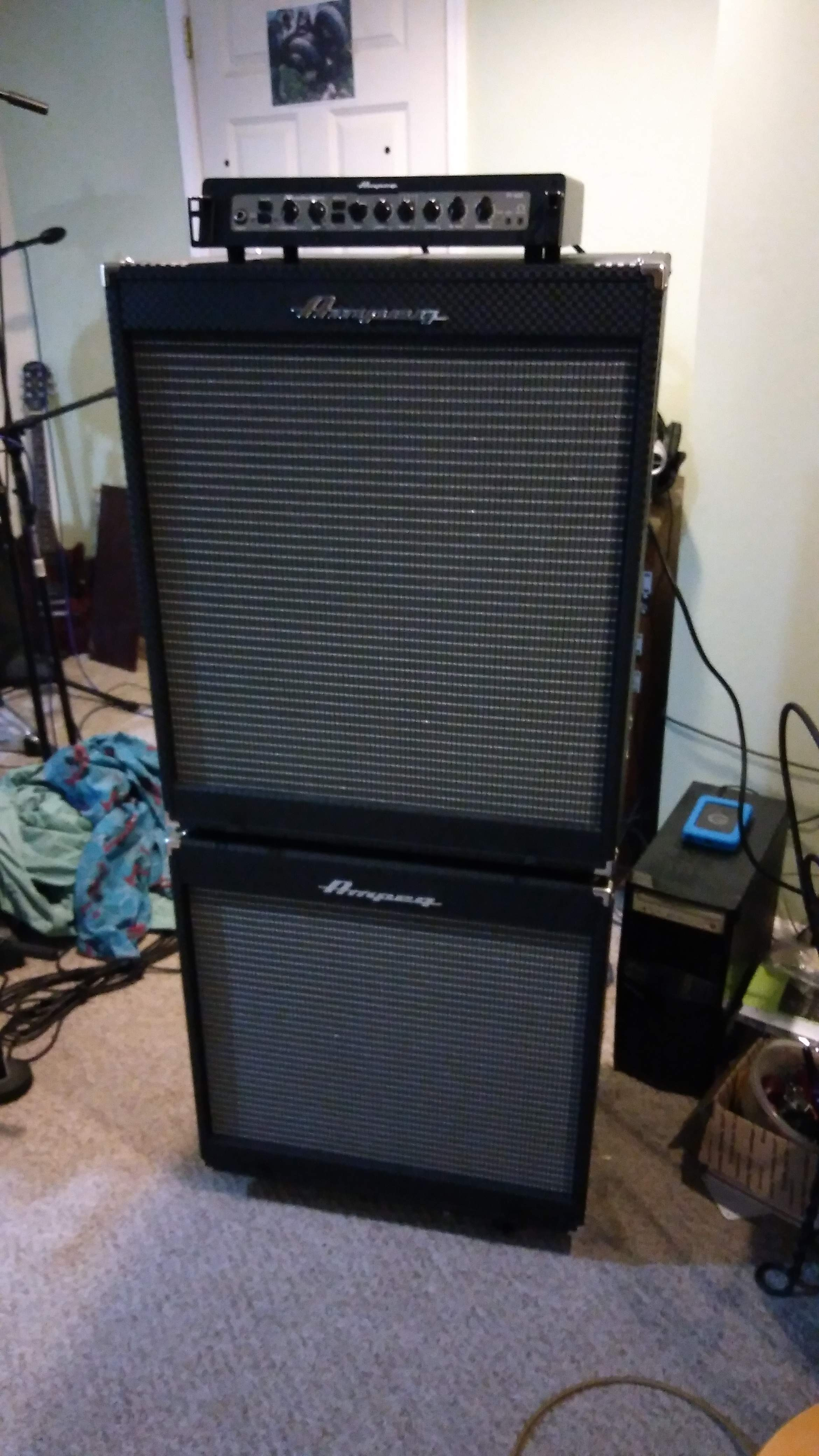 review ampeg pf 800 with ampeg pf410hlf and pf 115lf. Black Bedroom Furniture Sets. Home Design Ideas