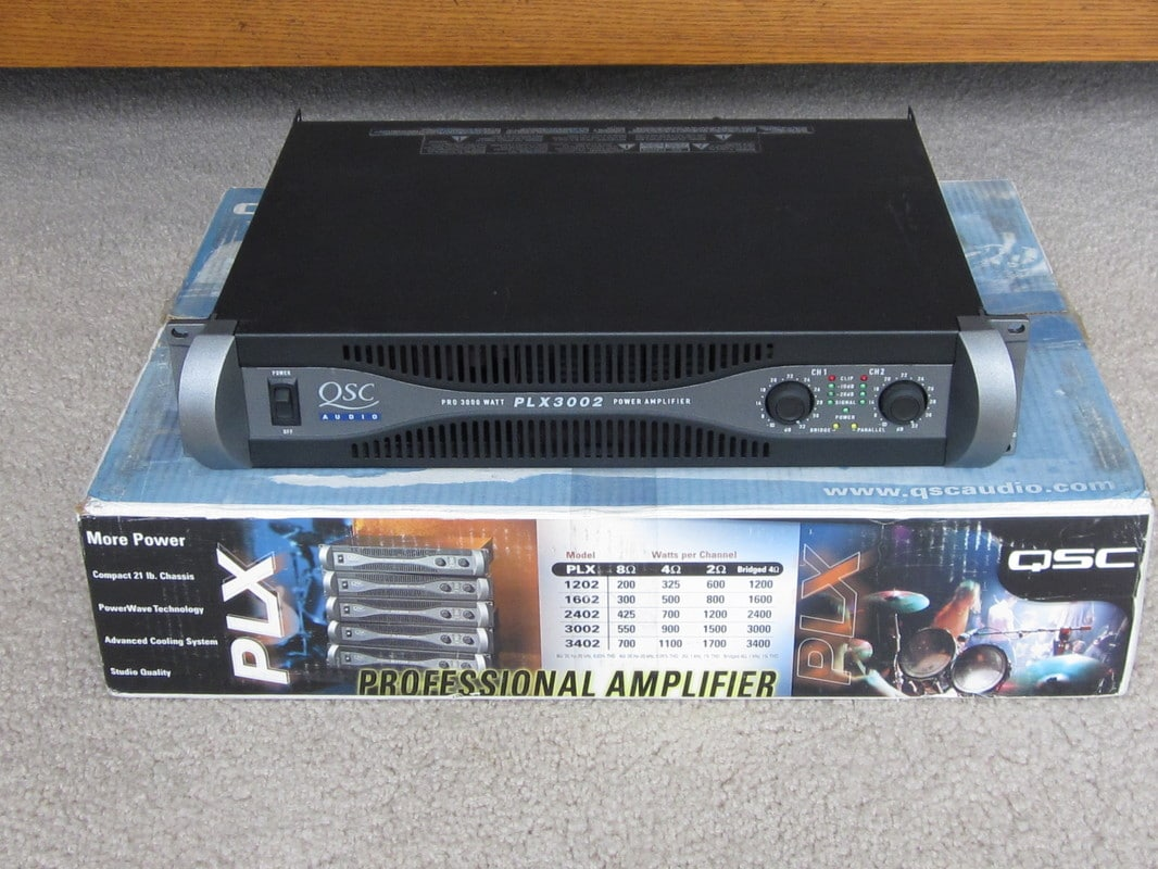 sold qsc plx 3002 power amp great condition in the box. Black Bedroom Furniture Sets. Home Design Ideas