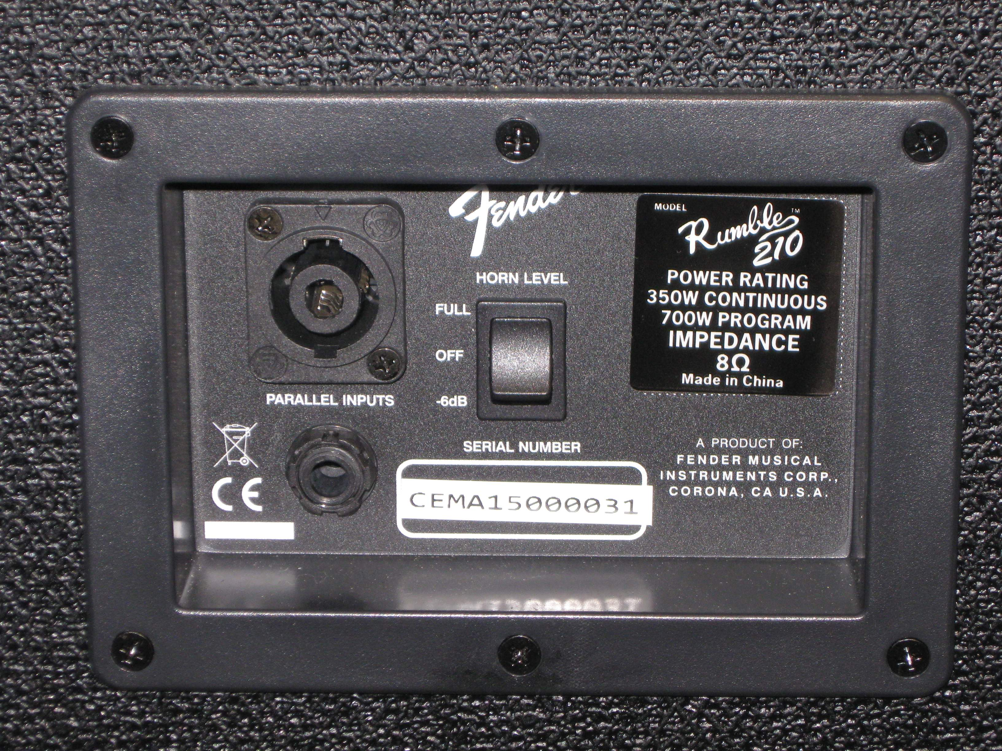 SOLD - Fender Rumble 210 V3 2x10 Bass Cabinet with MDB Cover ...
