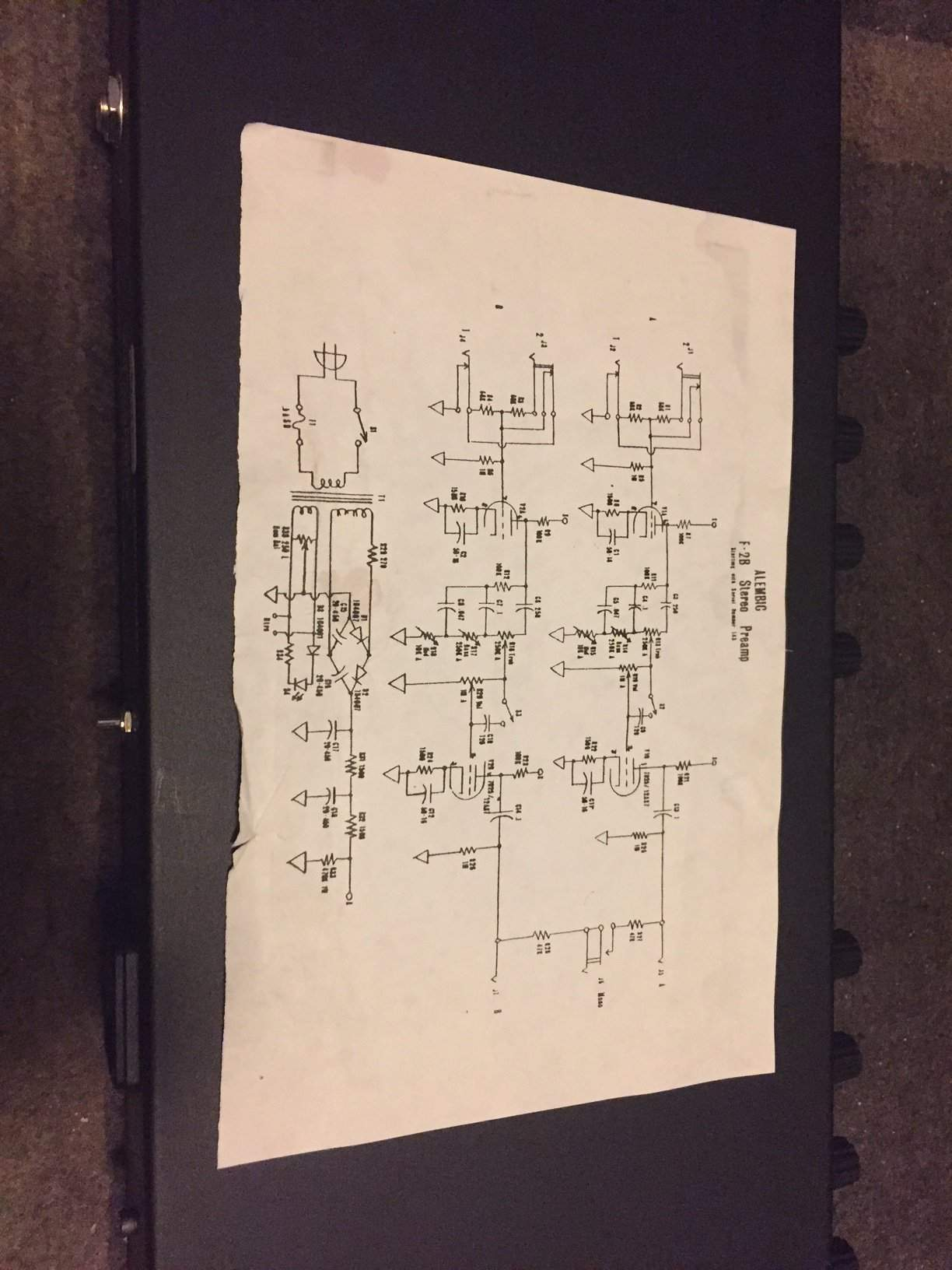 on alembic preamp schematic