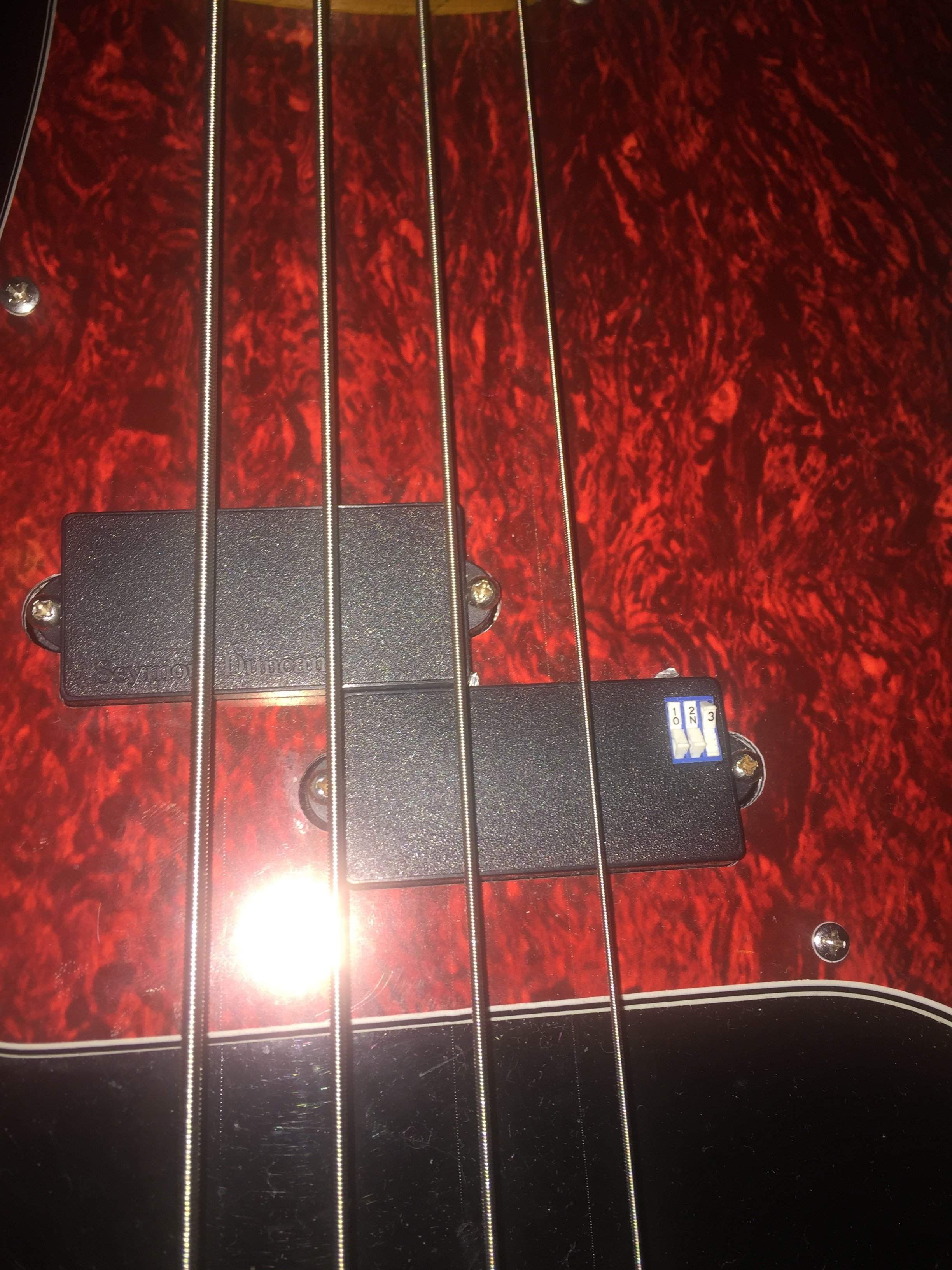 traded seymour duncan active p bass pups w switches. Black Bedroom Furniture Sets. Home Design Ideas