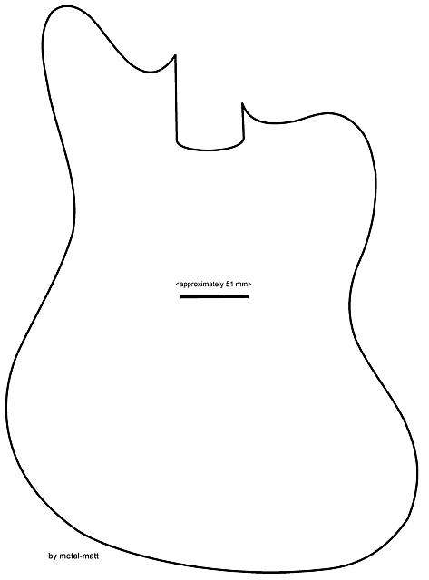bass guitar body templates - jaguar bass body specs