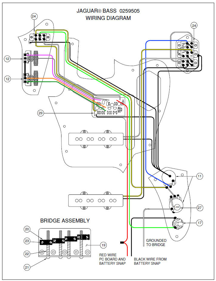 Fender Jaguar Wiring Schematic? | TalkB.com on