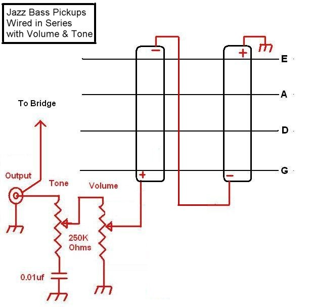Jazz Bass Series Wiring Without A Switch