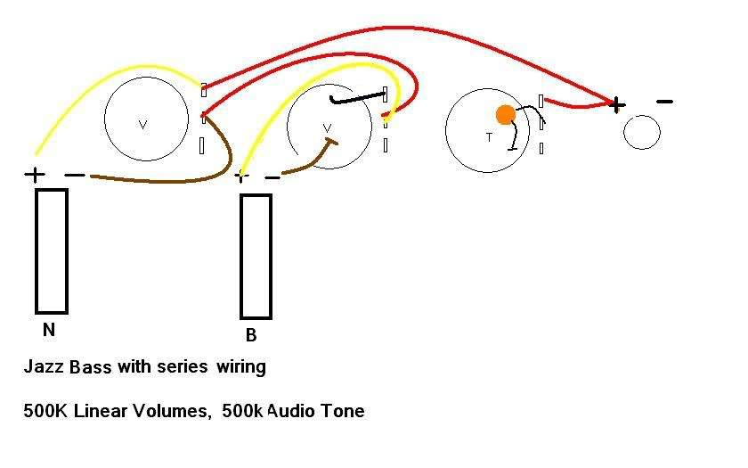 series jazz bass wiring diagram tonestyler and star grounding i m looking for a volume blend tone diagram wired in series no switch that incorporates the tonestyler and optimal grounding