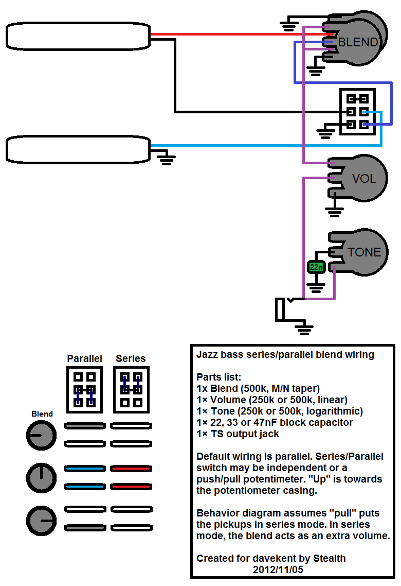 Wiring question: Jazz B V/B/T + Series/Parallel ... on