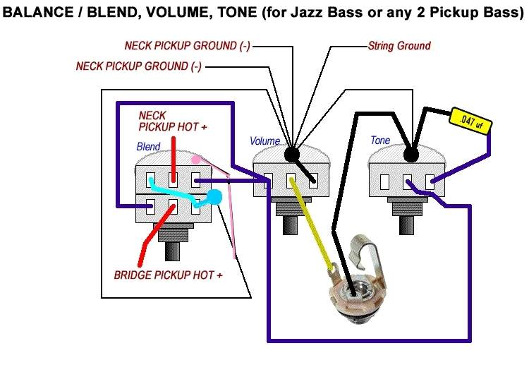 vbt wiring diagram passive fender jazz bass talkbass com all the grounds do not need to be on the back of that one pot they only need to be common