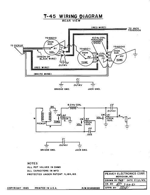 peavey humbucker wiring diagram humbucker free printable wiring diagrams