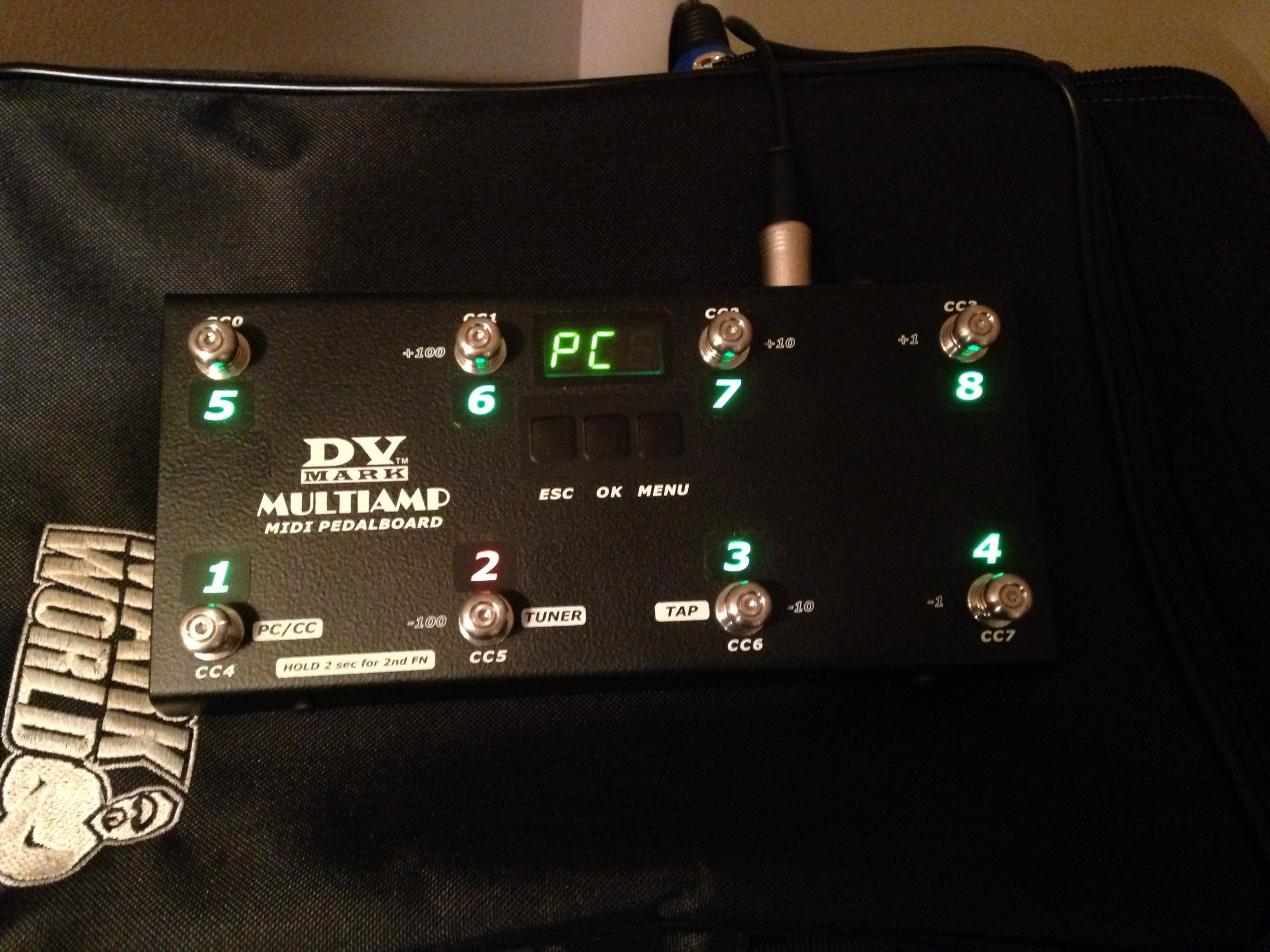SOLD - OBO Markbass Multiamp M With Midi Pedalboard & MB